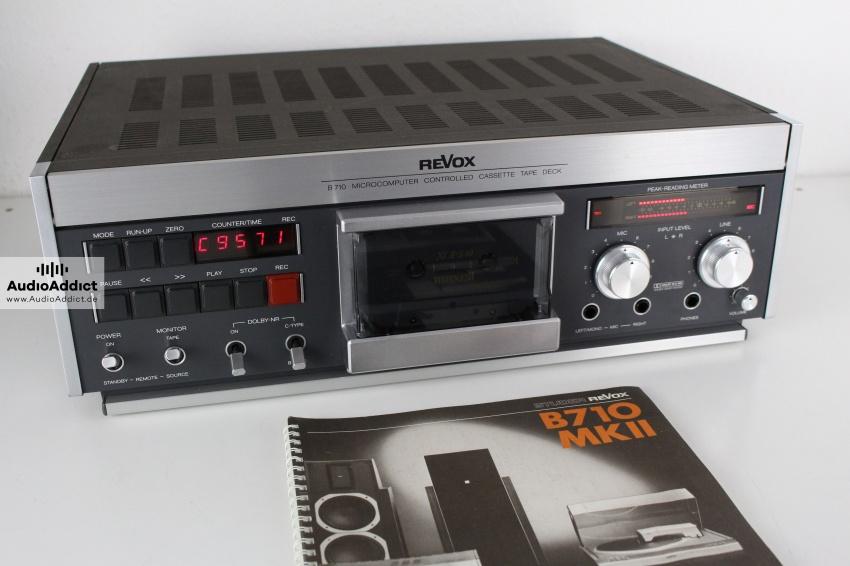 revox b710 mk ii high end tapedeck kassettendeck manual serviced ebay. Black Bedroom Furniture Sets. Home Design Ideas